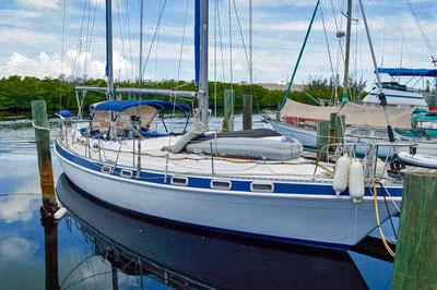A Morgan 416 Out Island cruising sailboat