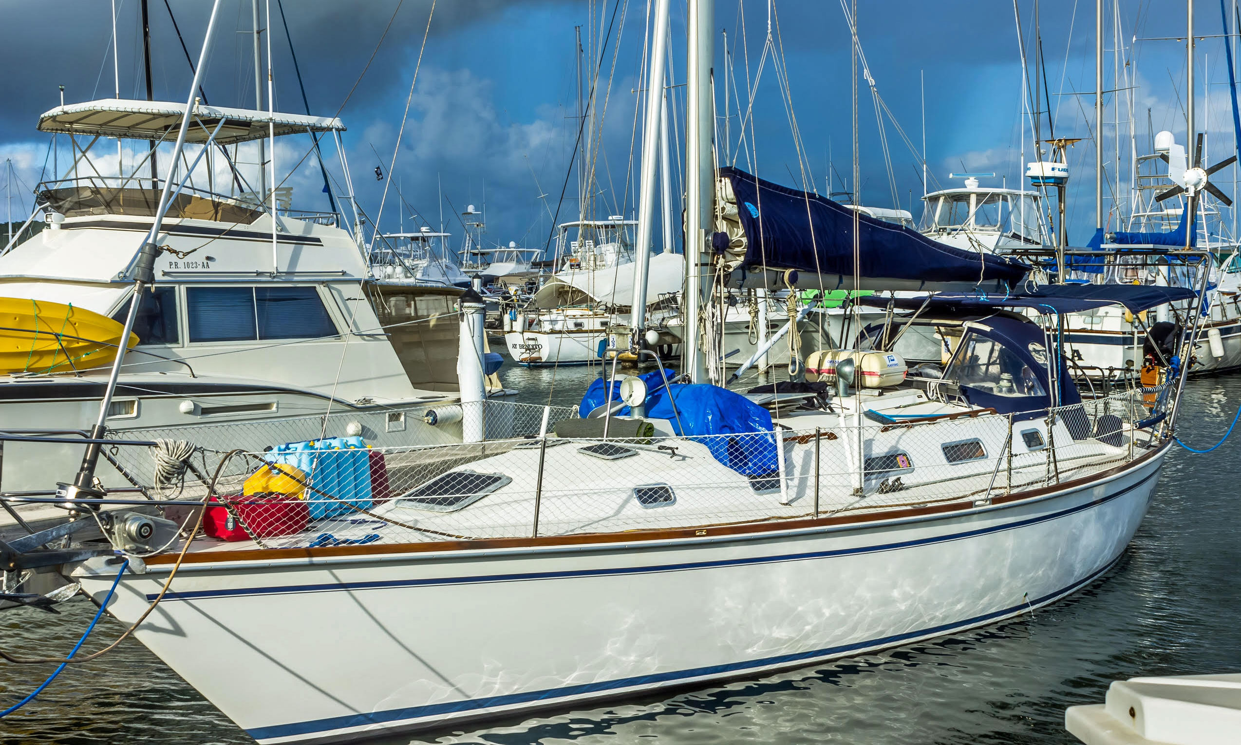 A Pearson 38 sailboat for sale