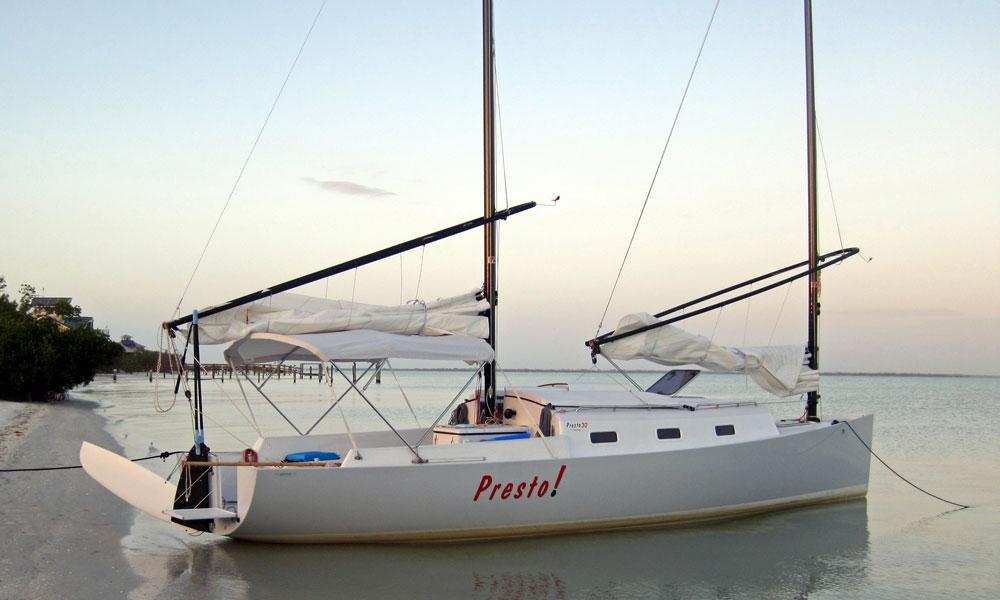 A Presto 30 Cat-Schooner cruising boat