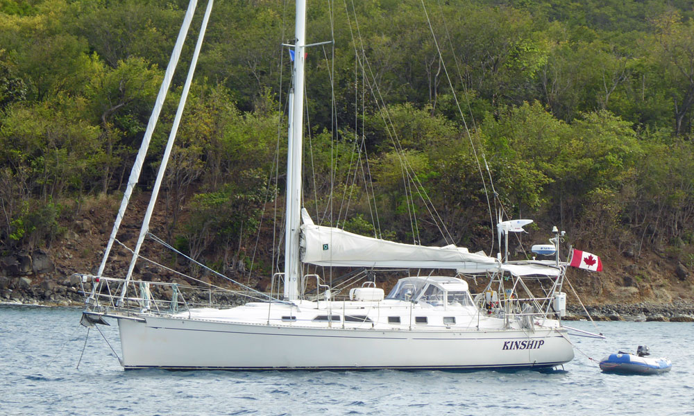 A Saga 43 sailboat