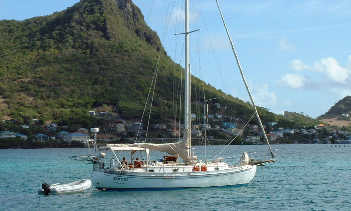 Sailboats In The Caribbean: Sailboat Fishing In The Caribbean