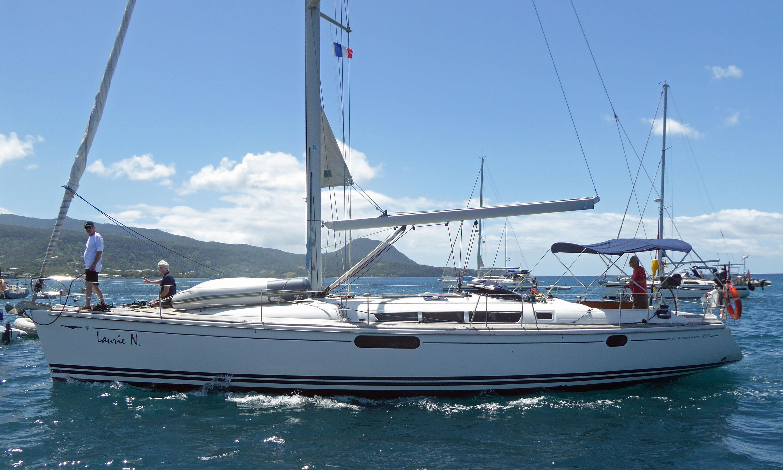 A Jeanneau Sun Odyssey 49 sailboat