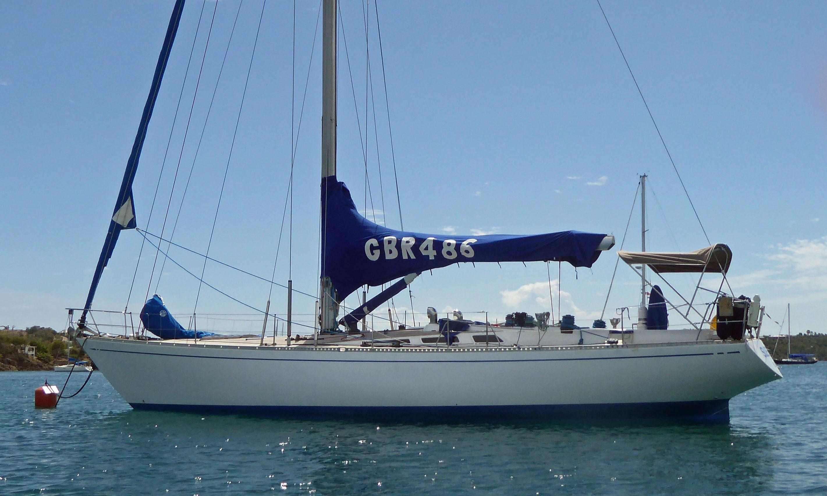 A Swan 48 sailboat