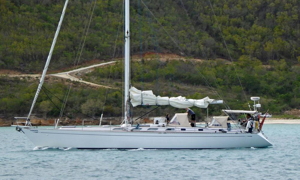 A Swan 59 sailboat