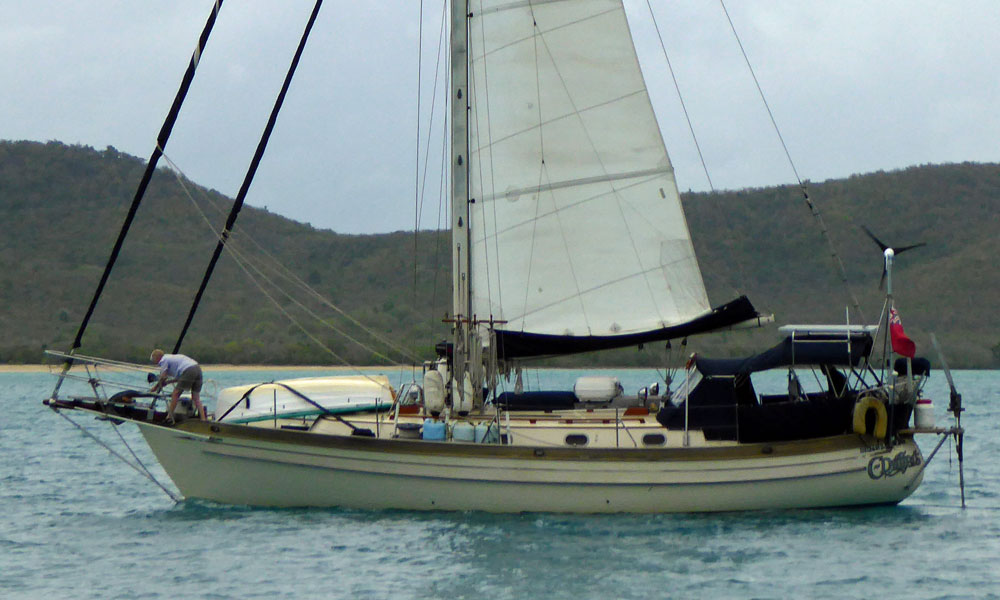 A Tashiba 40 Heavy Displacement Canoe Sterned Cruising Yacht