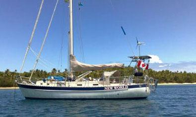 A Valiant 40 sailboat