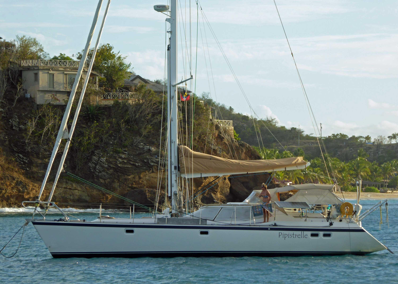 A solent rigged sailboat