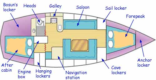 Alacazam's internal accommodation layout