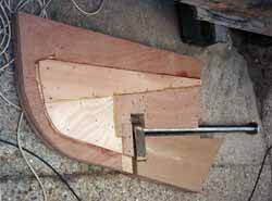 Making a robust rudder for a sailboat
