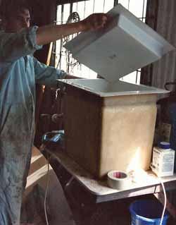 bespoke grp open top fridge for sailboat