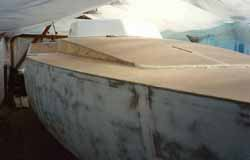 grp cabin top moulding fitted on wood epoxy sailboat