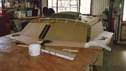 initial stage of making plug for cabin top mould for sailboat