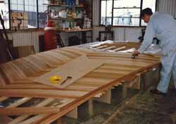 making the coachroof for our wood epoxy, cedar strip hulled sailboat