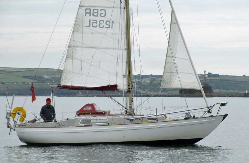 Sailboat 'Prime Suspect', an entrant in the 2015 Jester Challenge