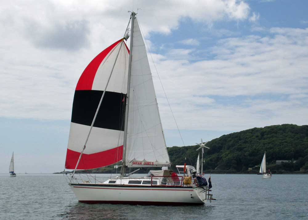 Sailboat 'The Sarah James', an entrant in the 2015 Jester Challenge