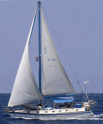 <i>s/y Fia</i> bowling along in the Tradewinds