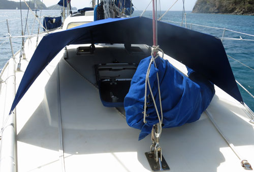 Making a foredeck awning