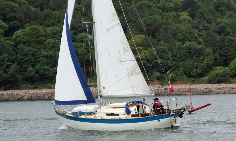 Sailboat 'Bluegrass', an entrant in the 2015 Jester Challenge