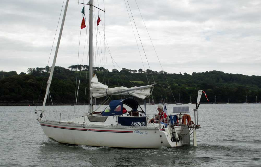 Sailboat 'Gribou', an entrant in the 2015 Jester Challenge