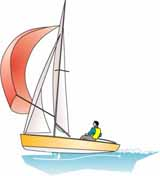 sailing dinghy on the plane