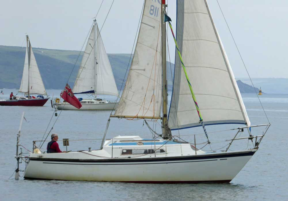 Sailboat 'Pyxi', an entrant in the 2015 Jester Challenge