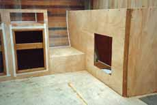 Building the interior structure of a self-build sailboat