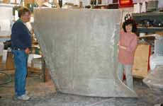Making a GRP keel for a home-built sailboat