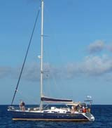 sailing sloop with masthead rig