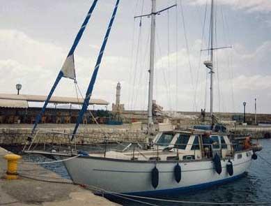 A Nauticat 38 motor-sailor
