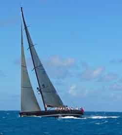 racing yacht with high aspect ratio, multi spreader rig