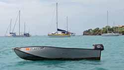 An aluminium folding dinghy