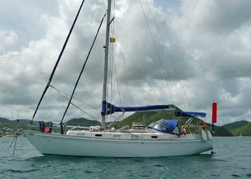 The Rival 36, a well-build cruising boat.