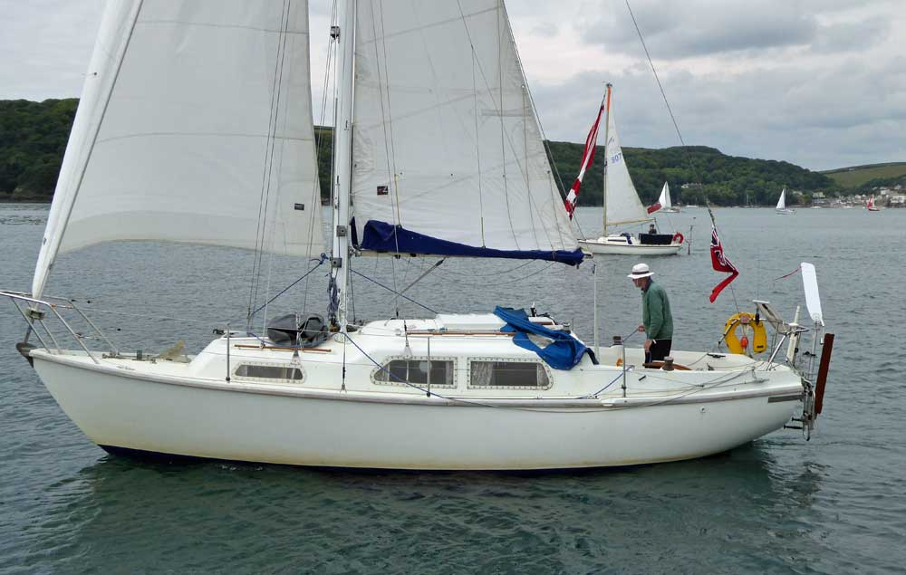 Sailboat 'Spirit of Venus', an entrant in the 2015 Jester Challenge