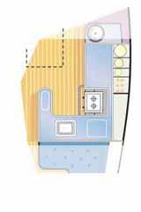 sailboat interiors, galley layout