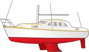 bilge keel sailboat
