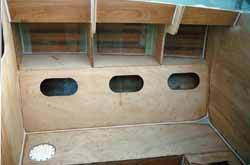 building the saloon berths and storage lockers on a wood epoxy self build boat