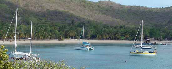 caribbean anchorage, saltwhistle bay, Mayreau