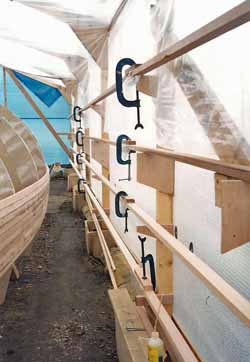 scarfing cedar strip planks for wood epoxy boat building