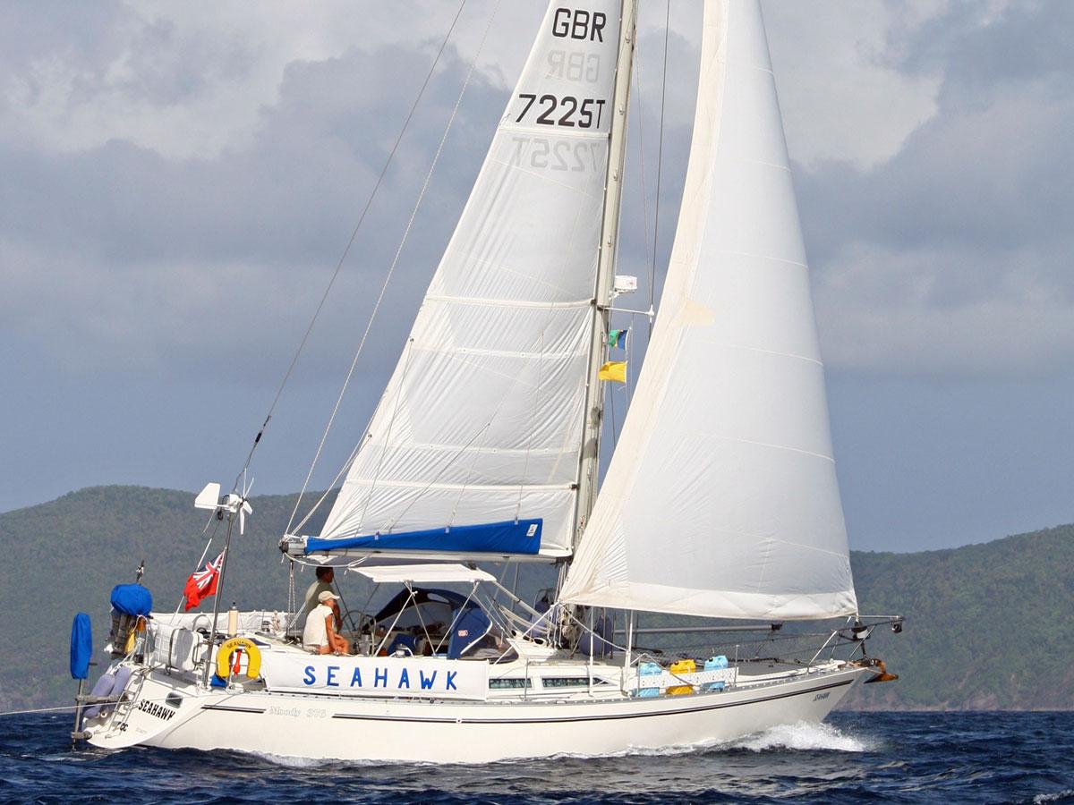 'Seahawk', a Moody 376 cruising yacht