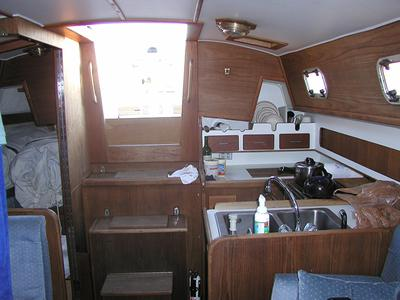 Interior, looking aft