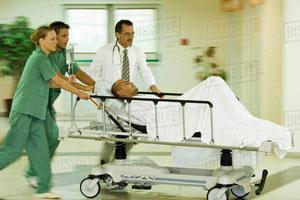 man on stretcher