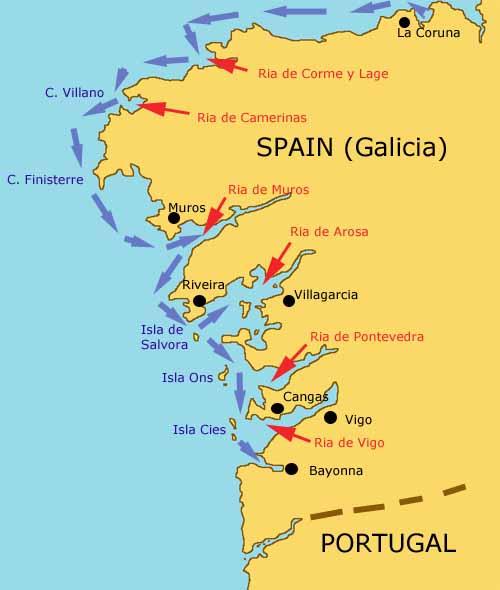 Pagemaking From La Coruña To Ria De Cormé Y Lage