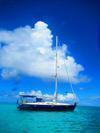 'Deep Blue' at anchor