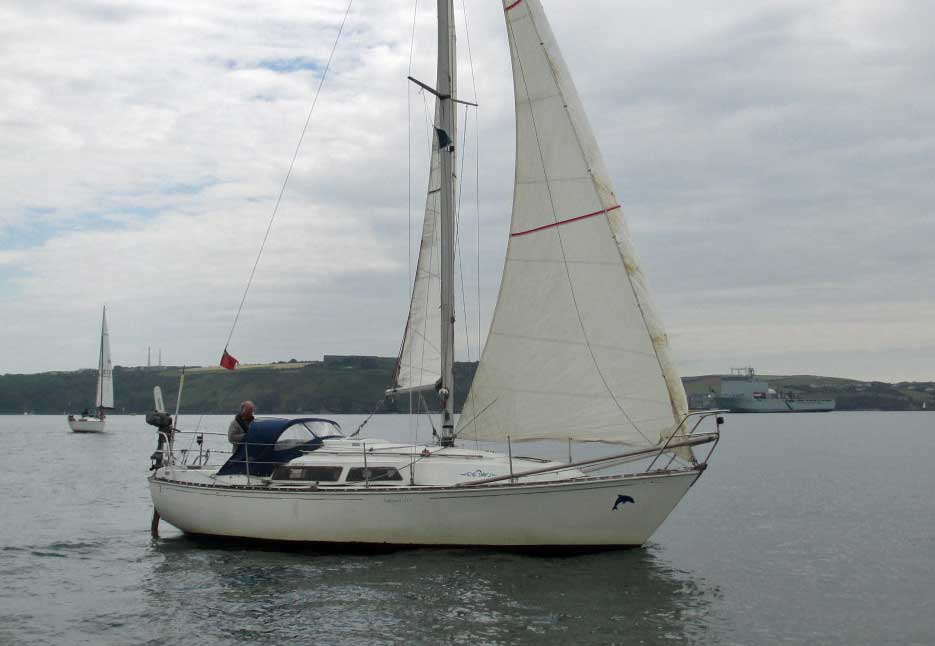 Sailboat 'Dolphin of Fowey, an entrant in the 2015 Jester Challenge
