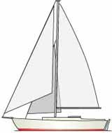 Sketch of a cutter rigged sailboat