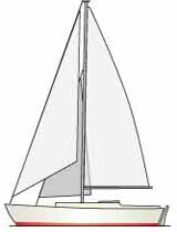cutter rigged sloop sailboat