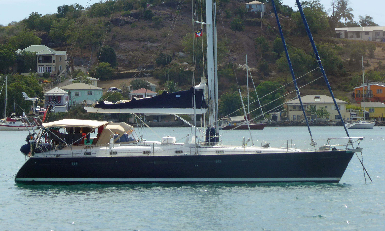 A Beneteau 50 sailboat