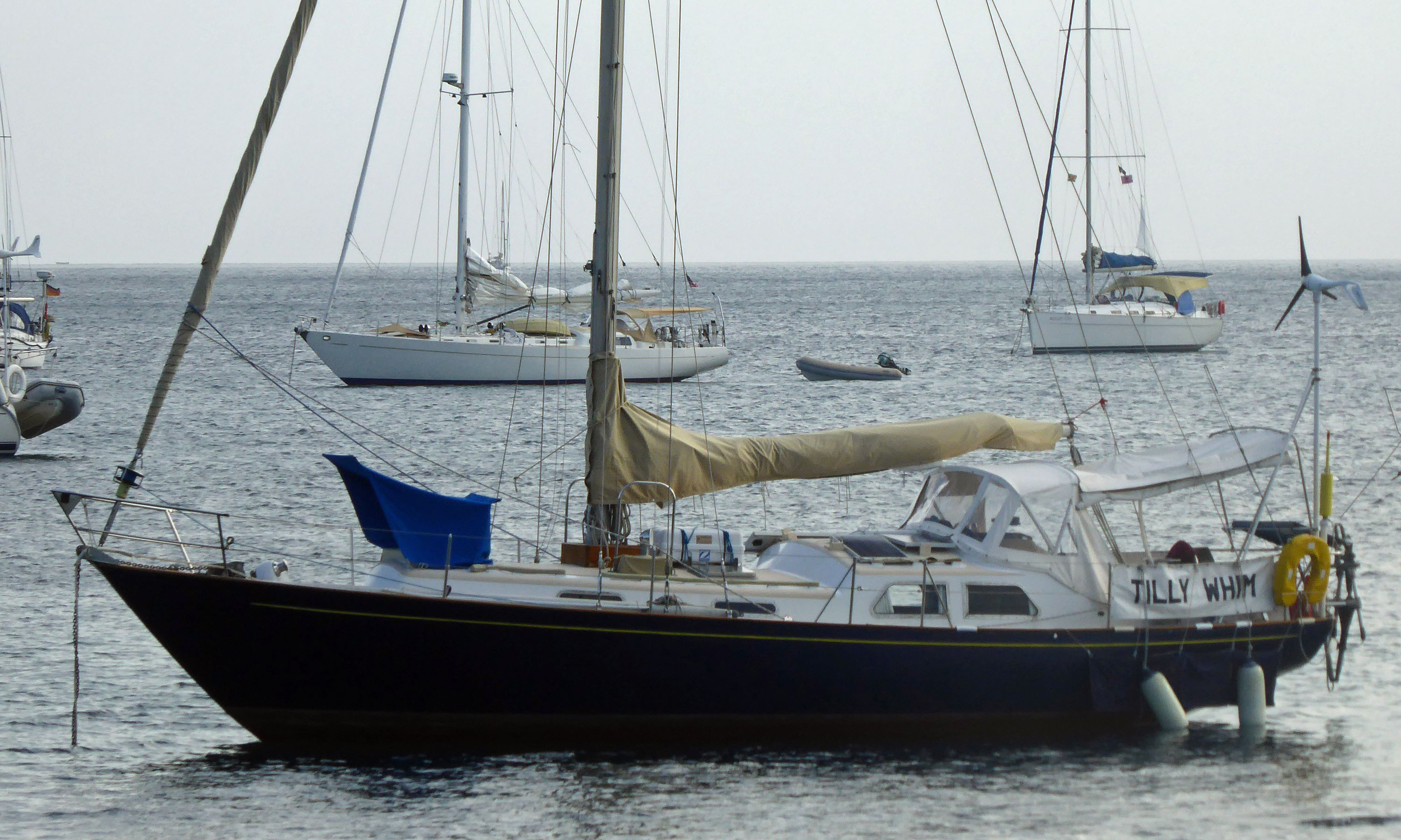 A Bowman 36 sailboat