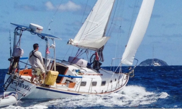 The Halsey Herreshoff designed Bristol 29.9 sailboat