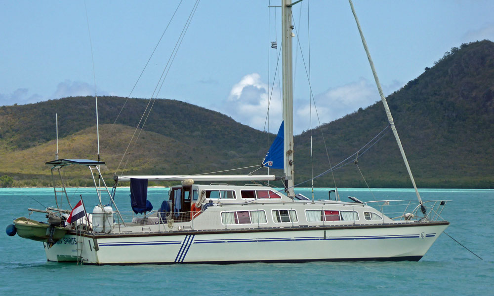 A Catalac 12m cruising catamaran